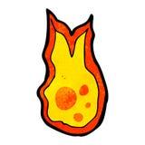 Cartoon fireball. Retro cartoon with texture. Isolated on White Royalty Free Stock Photography