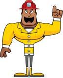 Cartoon Firefighter  Idea. A cartoon firefighter with an idea Stock Images