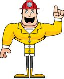 Cartoon Firefighter  Idea. A cartoon firefighter with an idea Stock Photos
