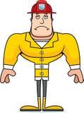 Cartoon Sad Firefighter. A cartoon firefighter looking sad Royalty Free Stock Images