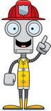 Cartoon Firefighter Robot Idea Royalty Free Stock Image