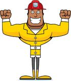Cartoon Smiling Firefighter. A cartoon firefighter smiling and happy Royalty Free Stock Photo