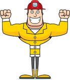 Cartoon Smiling Firefighter. A cartoon firefighter smiling and happy Royalty Free Stock Image