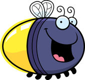 Cartoon Firefly Smiling. A cartoon illustration of a firefly smiling Stock Image