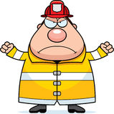 Cartoon Fireman Angry Royalty Free Stock Photography