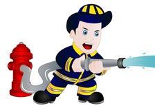 Cartoon Fireman ClipArt Stock Photo
