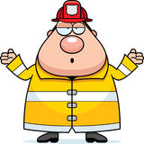 Cartoon Fireman Confused Royalty Free Stock Images