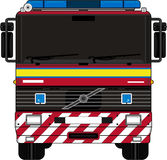 Cartoon Fireman - Fire Truck. An EPS file is also available Stock Image