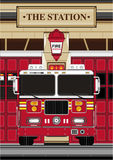 Cartoon Fireman - Fire Truck. An EPS file is also available Royalty Free Stock Photos