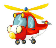 Cartoon fireman helicopter Royalty Free Stock Photo