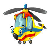 Cartoon fireman helicopter Stock Image
