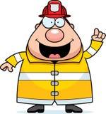 Cartoon Fireman Idea. A cartoon fireman with an idea Royalty Free Stock Photos