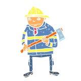 Cartoon fireman illustration. Colur vector Royalty Free Stock Photography