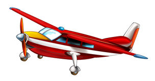 Cartoon fireman plane isolated Royalty Free Stock Image