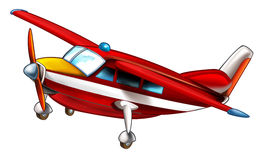 Cartoon fireman plane isolated. Beautiful and colorful illustration for the children - for different usage - for fairy tales stock illustration