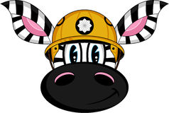 Cartoon Fireman Zebra. Vector Illustration of a Cute Cartoon Fireman - Firefighter Zebra Character Stock Image