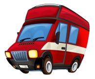 Cartoon firetruck - caricature Stock Photography