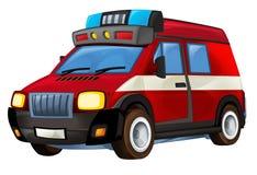 Cartoon firetruck - illustration for the children Stock Image