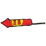 Cartoon firework Stock Photo