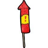 Cartoon firework Stock Photography