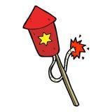 cartoon firework with burning fuse Stock Image