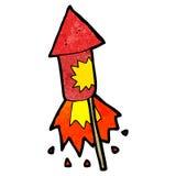 Cartoon firework rocket Stock Photo