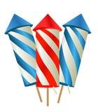 Cartoon fireworks. Vector illustration art Royalty Free Stock Image