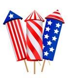 Cartoon fireworks. On white background Stock Photo
