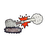 Cartoon firing tank Royalty Free Stock Images