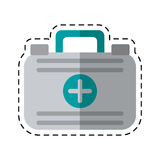 Cartoon first aid case medical emergency. Vector illustration eps 10 Royalty Free Stock Photography