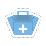 Cartoon first aid kit case. Illustration eps 10 Stock Image
