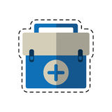 Cartoon first aid kit emergency equipment. Vector illustration eps 10 Royalty Free Stock Photo