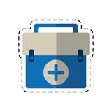 Cartoon first aid kit emergency equipment Royalty Free Stock Photo