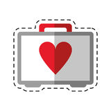 Cartoon first aid kit emergency heart care. Vector illustration eps 10 Stock Image