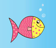 Cartoon Fish. Cute colorful fish. Vector Illustration Stock Photos