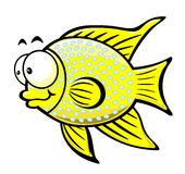 Cartoon fish. Illustration of cartoon fish on the white background,vector illustration Royalty Free Stock Photo