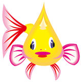 Cartoon fish. Drawing of cute fish in a white background Royalty Free Stock Photos