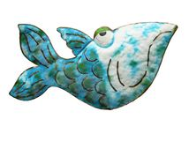 Cartoon Fish. Made from cut metal Royalty Free Stock Image