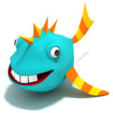 Cartoon Fish. 3D render. Concept art Royalty Free Stock Images