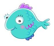 Cartoon fish. Funny cartoon style fish illustration Stock Photos