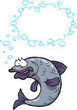Cartoon fish bubbles. Cartoon doodle fish bubbles on a white background illustration Royalty Free Stock Image