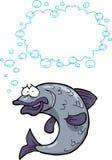 Cartoon fish bubbles Royalty Free Stock Image