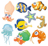 Cartoon fish collection ,icon set Stock Photography