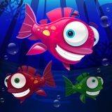 Cartoon fish. Cute cartoon fish. Vector clip art illustration with gradients Royalty Free Stock Photo
