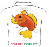 Cartoon Fish Design for April Fools' Day, Vector Illustration. Fish design for April Fools' Day holiday to print, cut it and put in the back of your friends Stock Photography