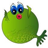 Cartoon fish. funny sea creature. Illustration Royalty Free Stock Photography