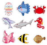 Cartoon fish icon Royalty Free Stock Photos