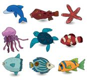 Cartoon fish icon Royalty Free Stock Photography