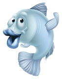 Cartoon fish. An illustration of a blue cartoon fish character mascot Stock Image