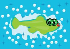 Cartoon fish on isolated background Royalty Free Stock Photography